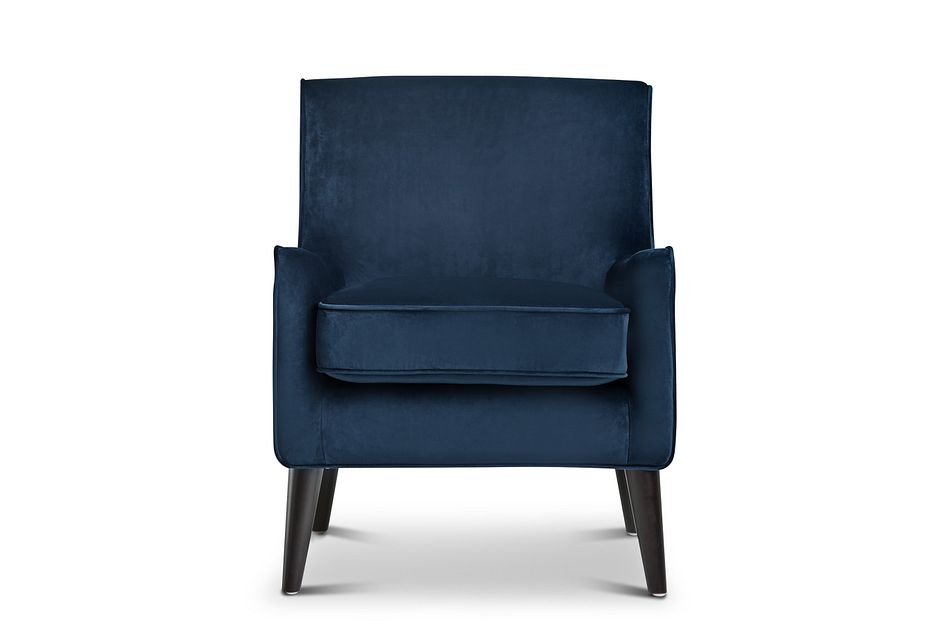 Angie Dark Blue Velvet Accent Chair