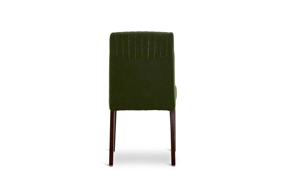 Fraser Dark Green Velvet Upholstered Side Chair