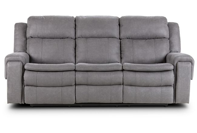 Scout Gray Micro Reclining Sofa