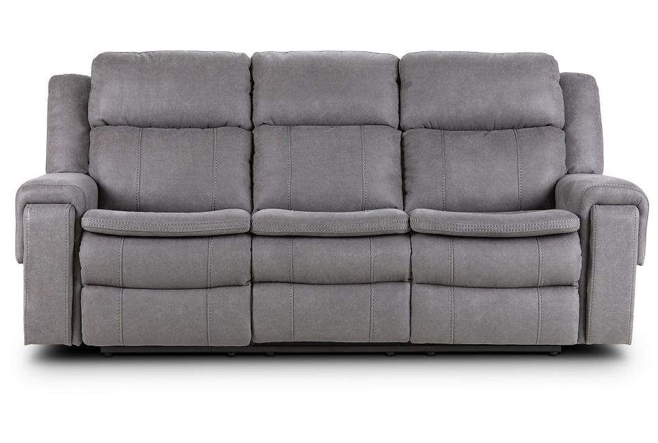 Scout Gray Micro Reclining Sofa,  (1)