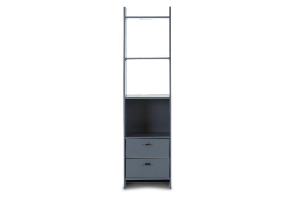 Delray Dark Gray Open Bookcase,  (1)