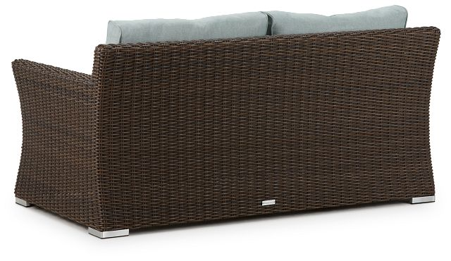 Southport Teal Woven Loveseat (2)