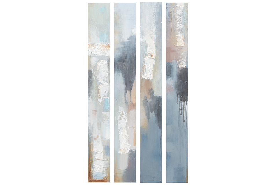 Essence Multicolored Set Of 4 Canvas Wall Art