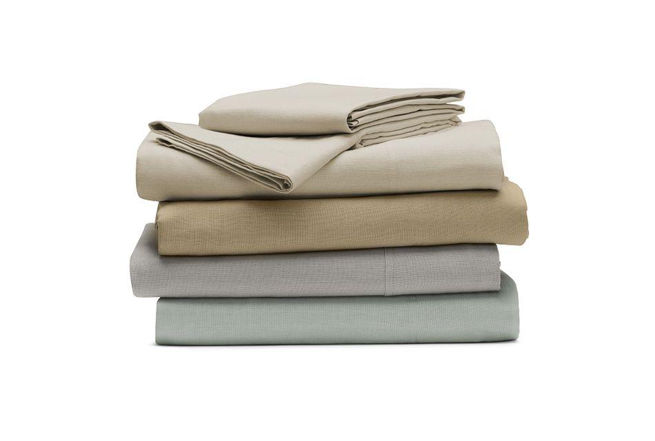 Linen Blend Gray Sheet Set