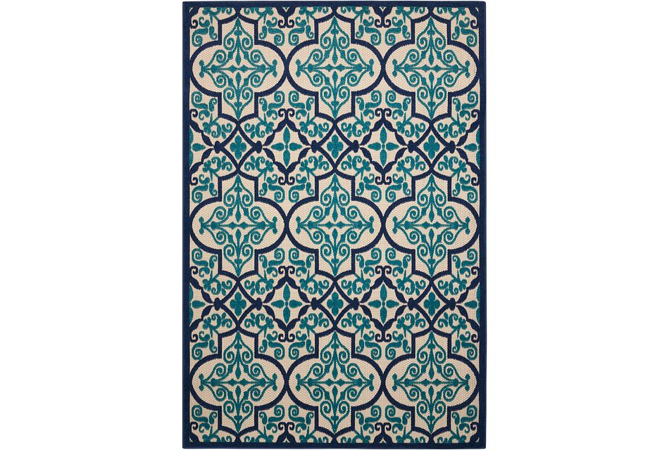 Aloha Dark Blue Indoor/outdoor 2x3 Area Rug