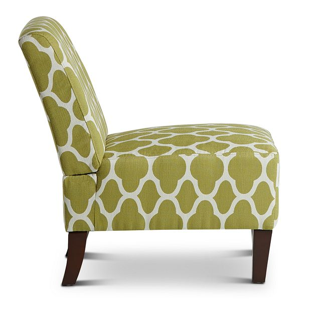 Comet Light Green Fabric Accent Chair (1)