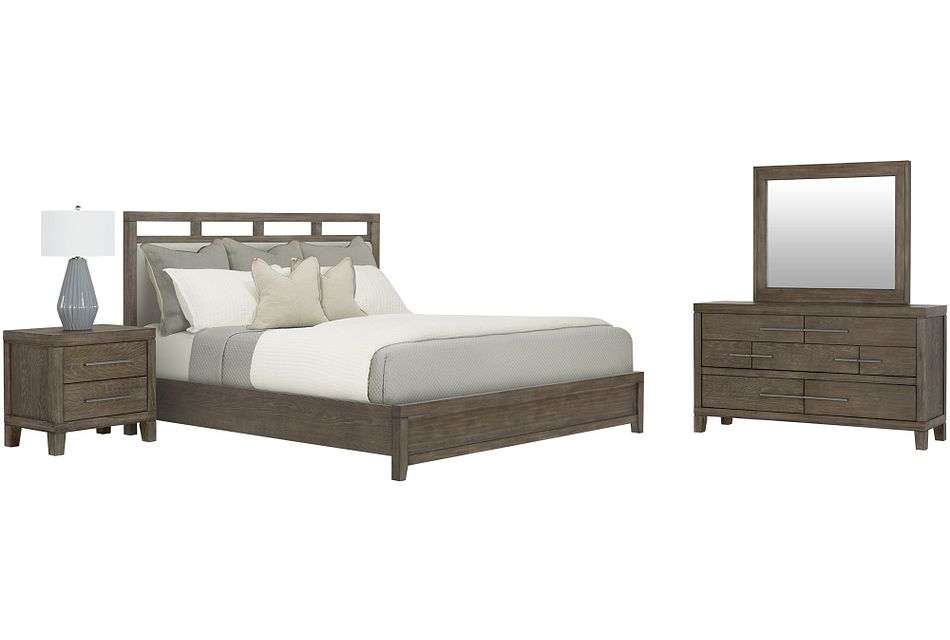 Bravo Dark Tone Uph Platform Bedroom