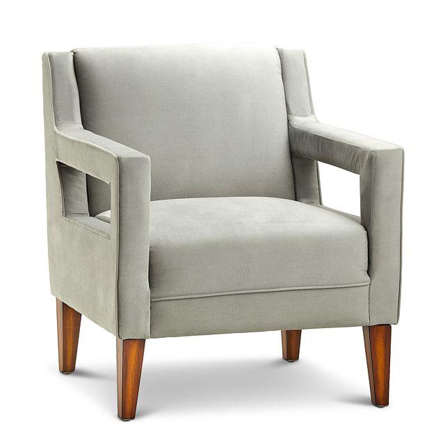 Dawson Light Gray Velvet Accent Chair (0)