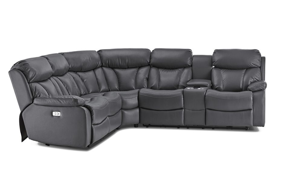 Dustin Gray Micro Right Console Love Reclining Sectional