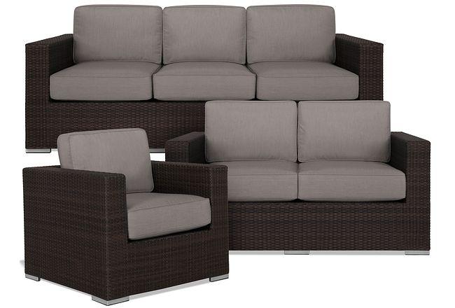 Fina Gray Outdoor Living Room Set