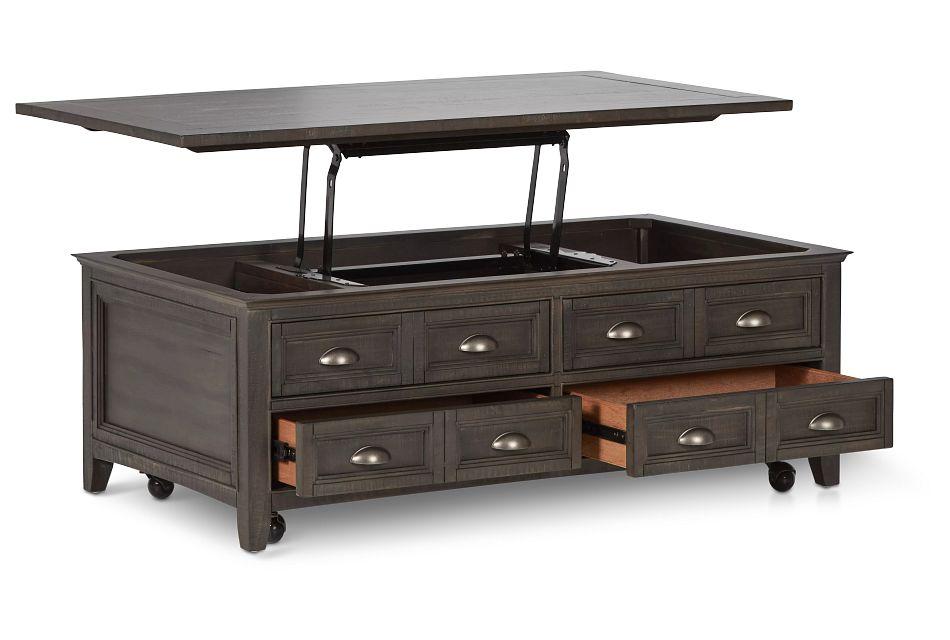 Heron Cove Dark Tone Lift Coffee Table,  (3)