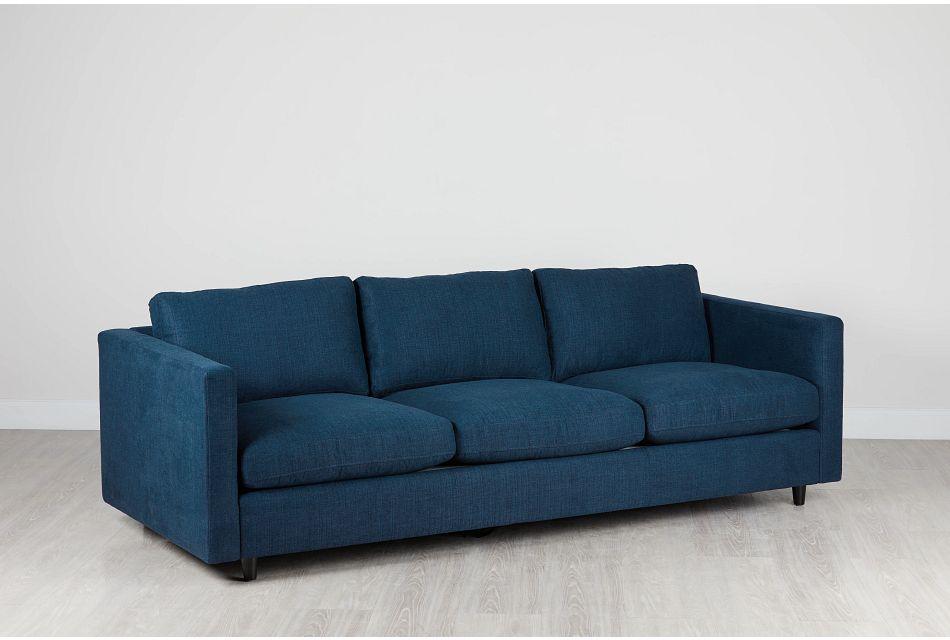 Simone Dark Blue Fabric Sofa