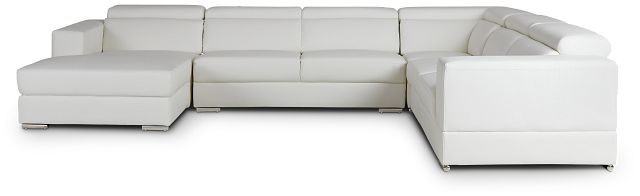 Maxwell White Micro Large Left Chaise Sectional (3)