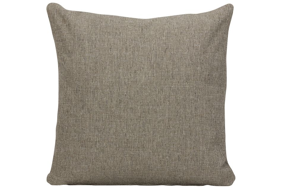 Asheville Brown Fabric Square Accent Pillow