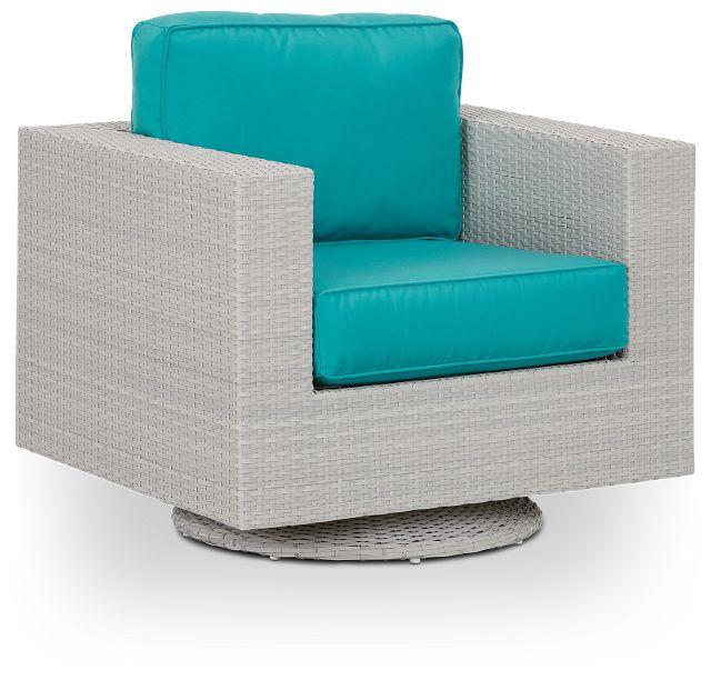 Biscayne Dark Teal Swivel Chair (0)