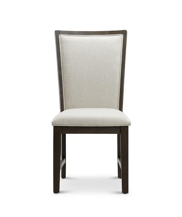 Grady Dark Tone Slat Side Chair (2)