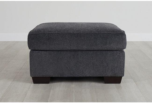 Myra Dark Gray Fabric Ottoman