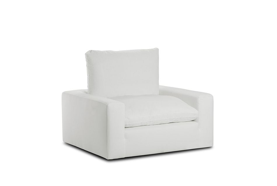 Nixon White Fabric Chair