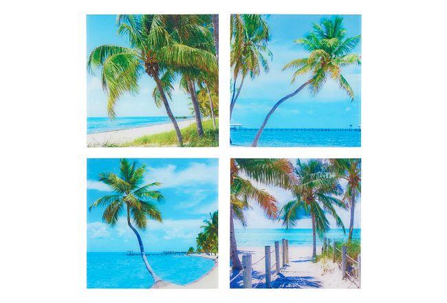 Palms Acrylic Set Of 4 Wall Art