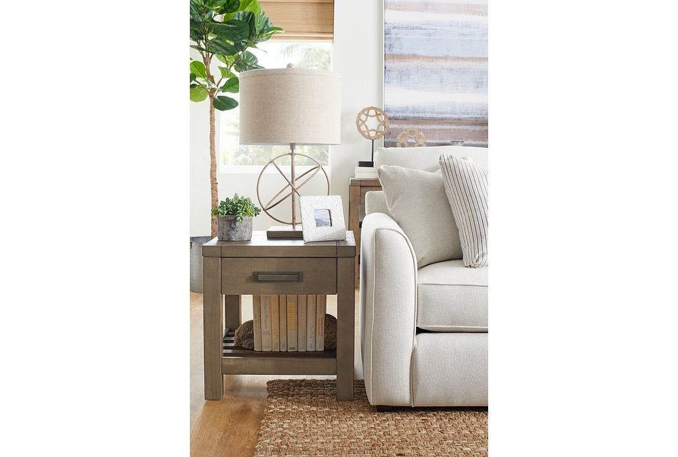 Taryn Gray Square End Table