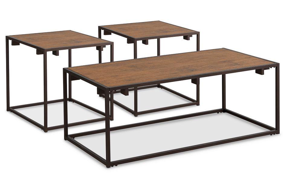 Reggie Dark Tone Rect 3 Pack Tables