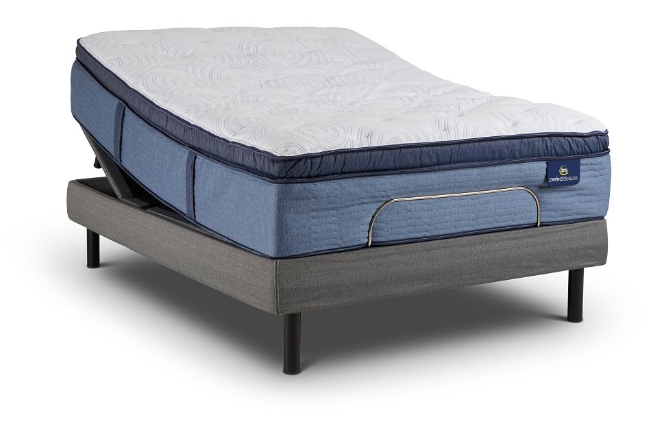 Admiral Twilight Plush Pillow Top Motion Perfect 4 Adjustable Base Set, Queen (0)
