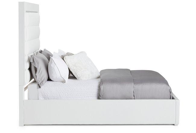 Midtown White Uph Platform Bed