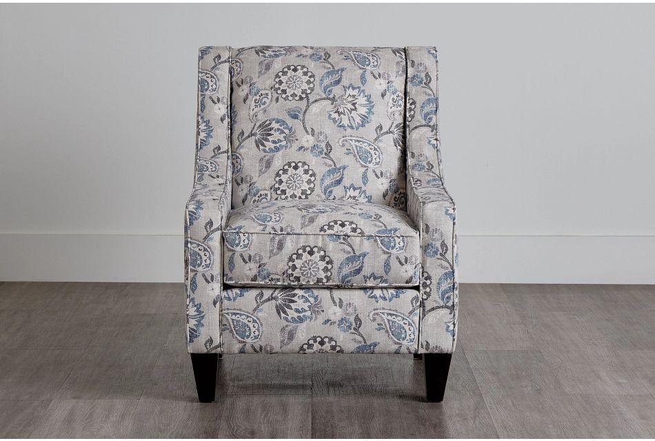 Sylvie Blue Floral Accent Chair,  (0)