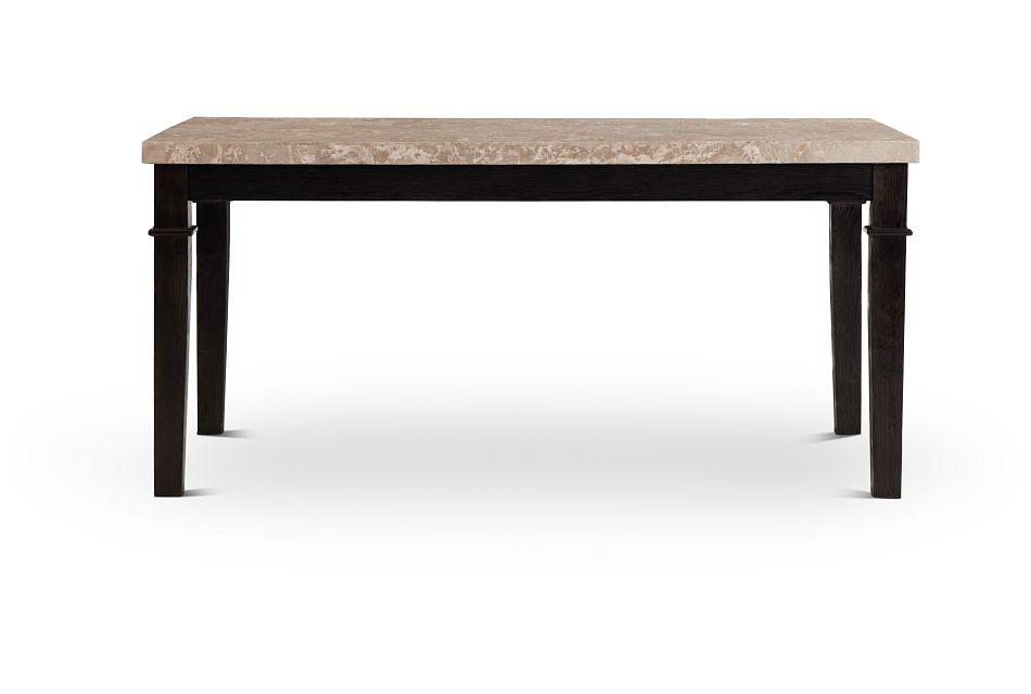 Portia Dark Tone Marble Rectangular Table,  (1)
