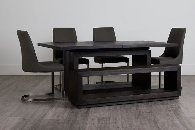 Madden Dark Tone Table, 4 Chairs & Bench (0)