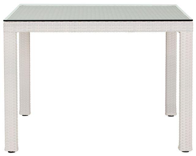 """Bahia White 40"""" Square Table (1)"""