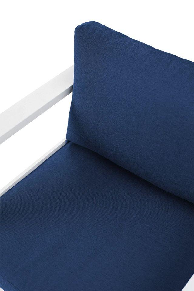 Lisbon Navy Aluminum Chair