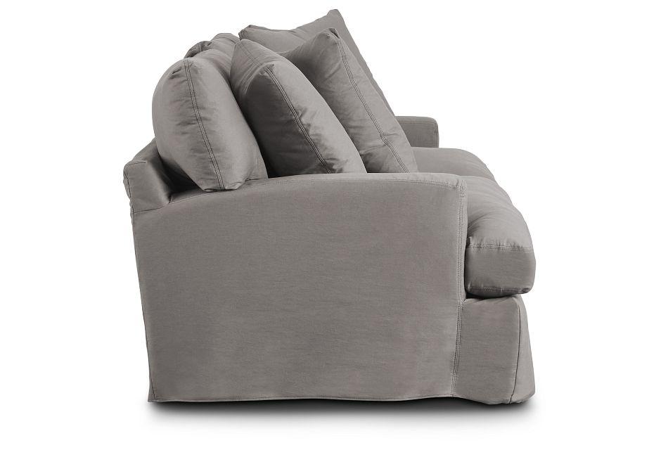 Delilah Gray Fabric Sofa
