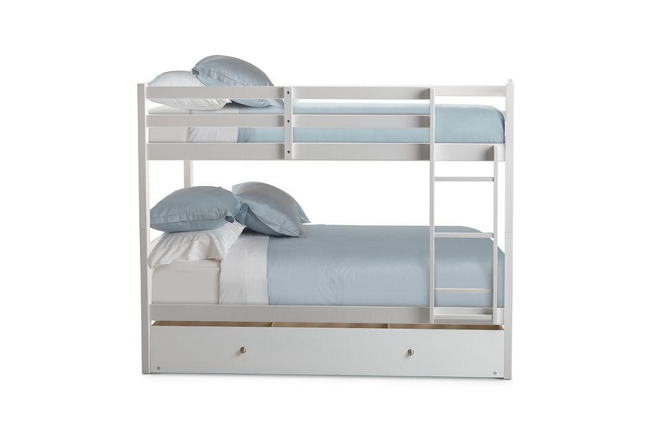 Marley White Storage Bunk Bed