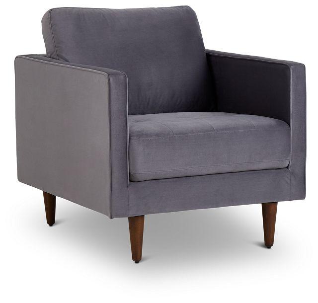 Luna Gray Velvet Chair (1)