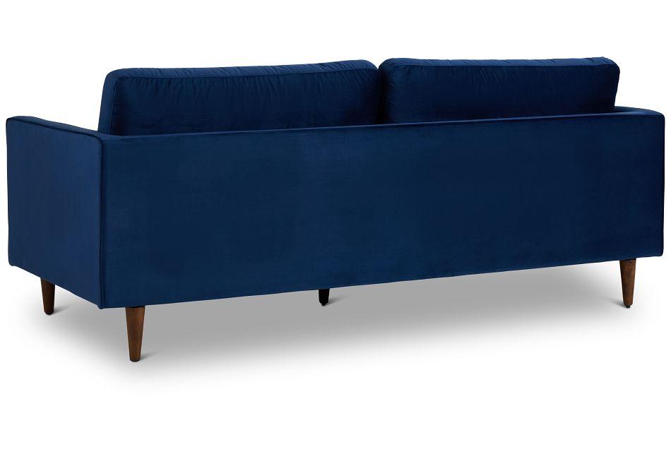 Luna Dark Blue Velvet Sofa