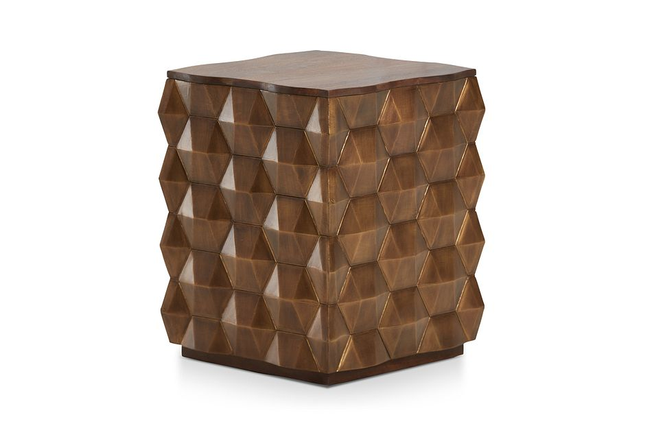 Versie Gold Square End Table