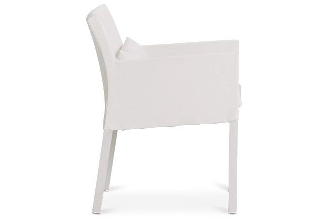 Lisbon White Cushioned Chair