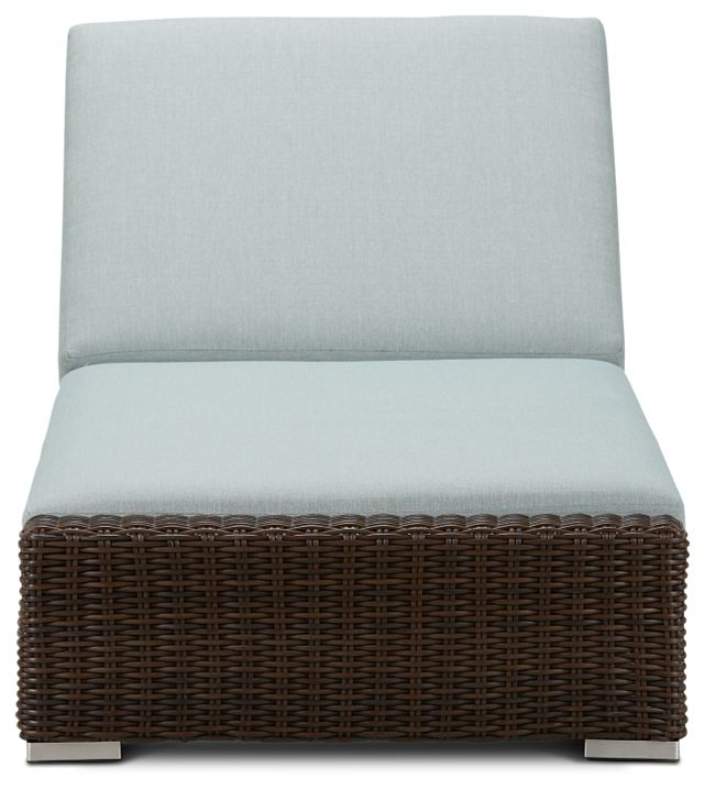 Southport Teal Woven Cushioned Chaise (2)