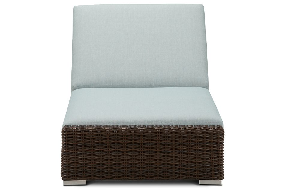 Southport Teal Woven Cushioned Chaise