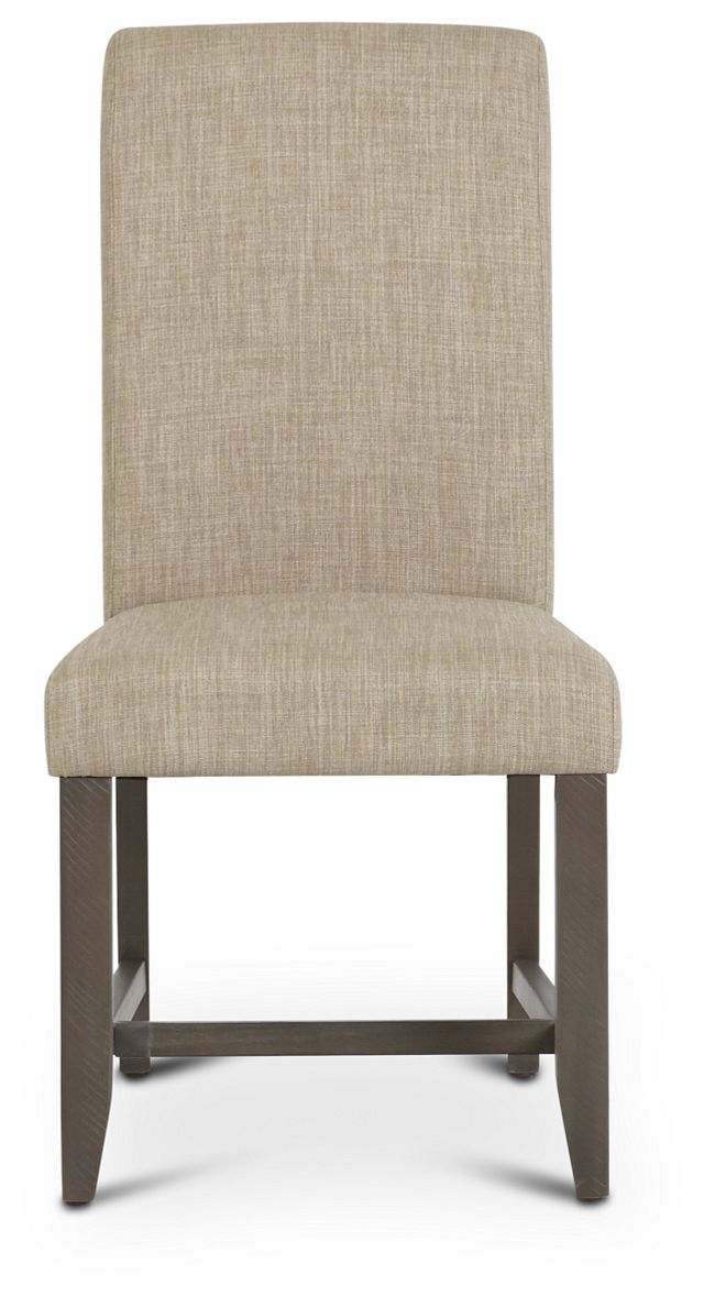 Taryn Light Taupe Upholstered Side Chair (3)