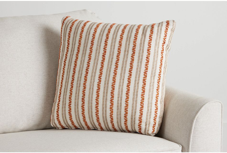 "Budreau Orange Fabric 20"" Accent Pillow,  (0)"