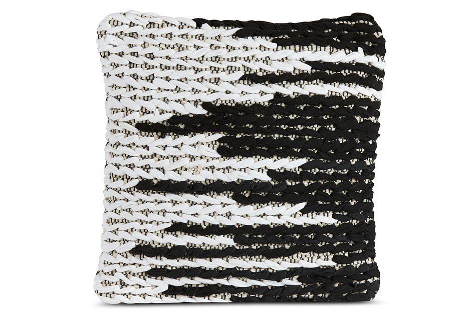 Kasbi Black Square Accent Pillow