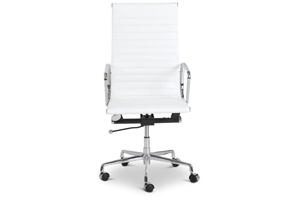 Amos White Desk Chair,