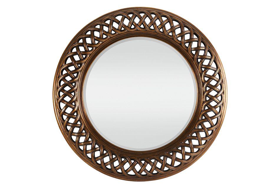 Artmis Gold Round Mirror