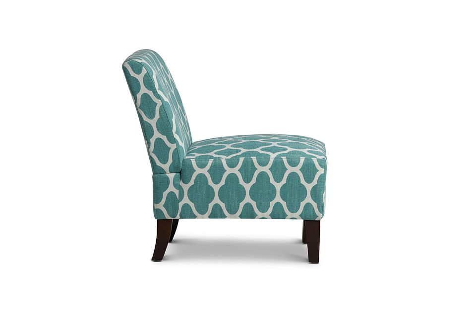 Comet Light Blue Fabric Accent Chair