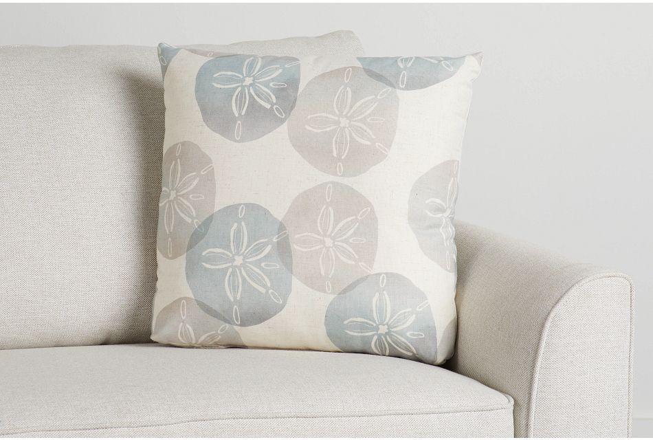 "Sand Dollar Green Fabric 20"" Accent Pillow,  (0)"