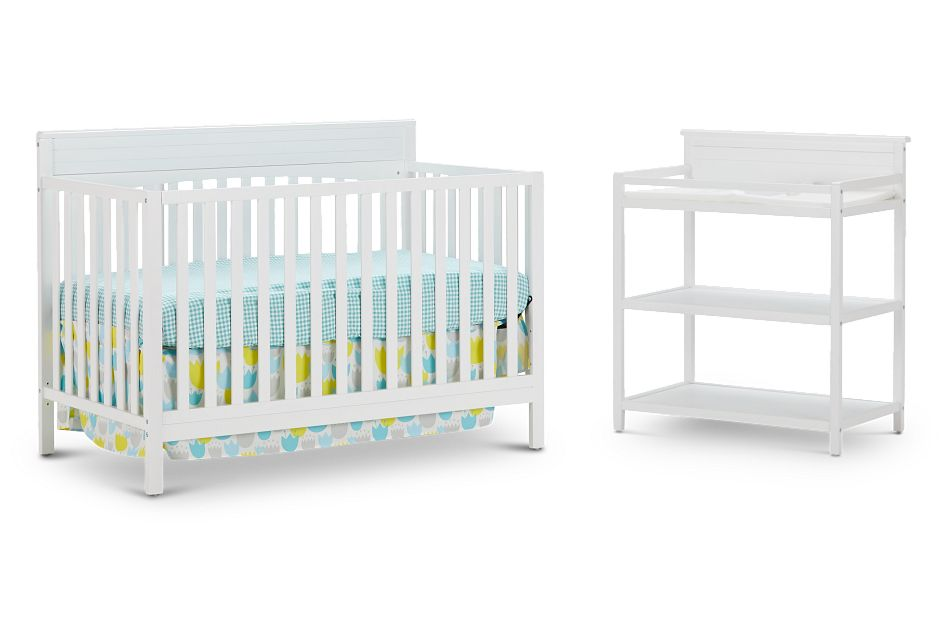 Parker White Crib Bedroom