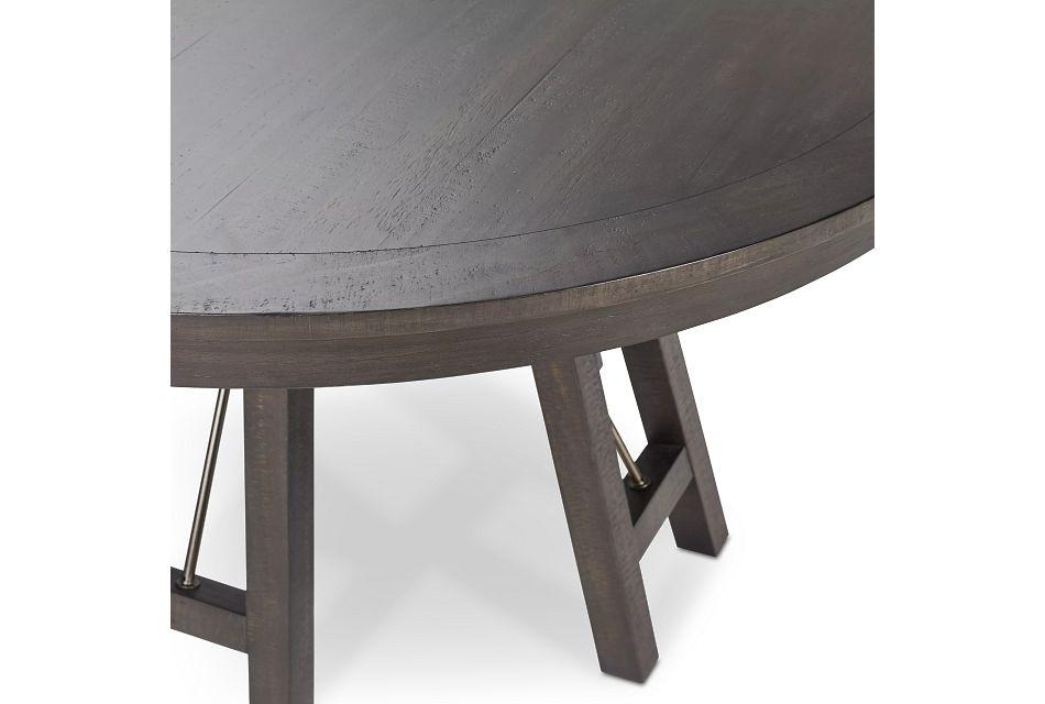 Heron Cove Dark Tone Round Table, 3 Chairs & Bench