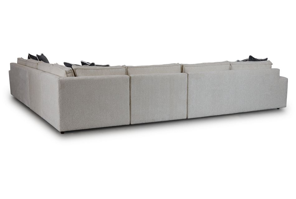 Nest Light Beige Fabric Large Two-arm Sectional